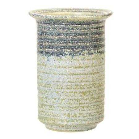 Vase Stentøj Ø10 xH14cm, grøn, Bloomingville