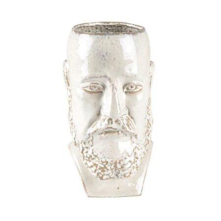 Vase/skjuler H26 cm Hvid Stentøj
